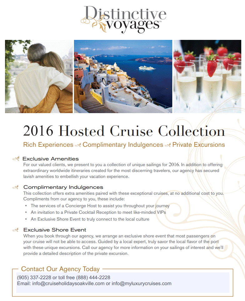 2016 Distinctive Voyages